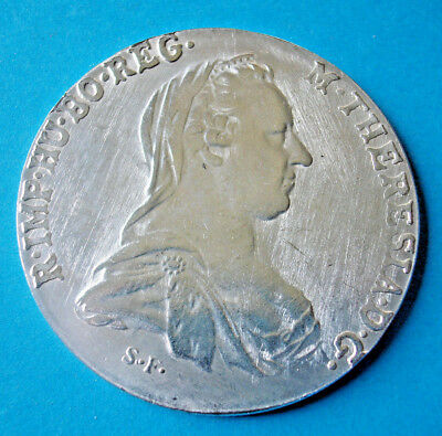 Taler Maria Theresia 1780 mit 45 mm+28 g  Medaille-Copy