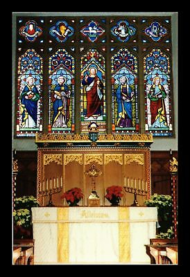 Dr Jim Stamps Us Stained Glass Christ Church St Michaels Maryland Postcard