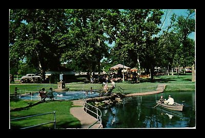 Dr Jim Stamps Us Boats Government Springs Park Enid Oklahoma Postcard