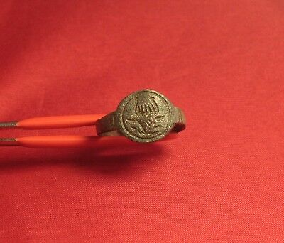 Medieval Bronze Knight's Seal Ring - 12. Century, Bull Matrix Seal