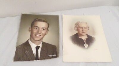 2 8x10 Colored Photo of Old Woman & Young Man by Jack Anderson & Craine