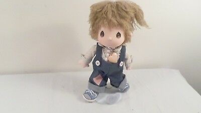 "1985 Applause Precious Moments Samuel Butcher 12"" Praise the Lord Boy Doll"