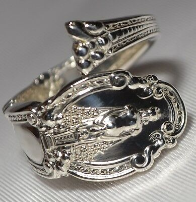 ANTIQUE 1905 TIFFANY & CO. RENAISSANCE Sterling Silver Spoon Ring Free Ship