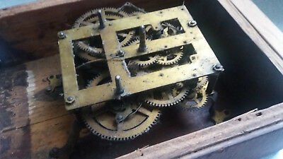 Antique Brass Wall Clock Movement - Badische - Spares / Repairs