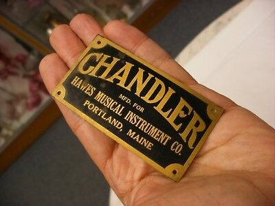 Chandler Music Store Phonograph Name Plate - Three Day Auction