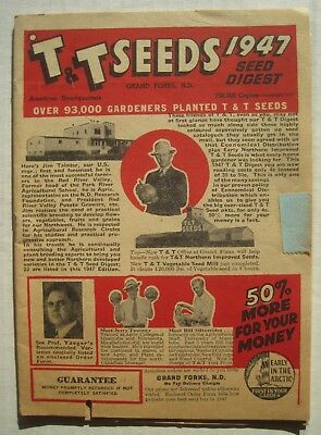 1947 T & T Seed Digest, Seeds Catalog; Grand Forks ND; 32 pages + order blank