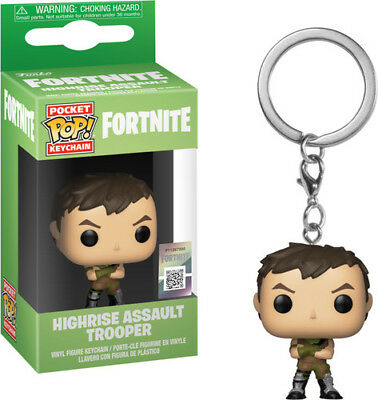 Fortnite S1a - Highrise Assault Trooper - Funko Pop! Keychain: (2018, Toy NEUF)