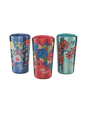The Pioneer Woman Stainless Steel Tumbler 3 Pack 18 oz Double Wall - Brand New