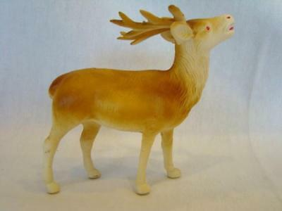 1940s Vintage CHRISTMAS Bugling REINDEER Celluloid Toy, Perfect for Sleigh, #2