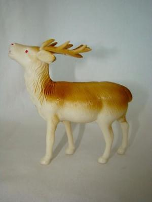 1940s Vintage CHRISTMAS Bugling REINDEER Celluloid Toy, Perfect for Sleigh