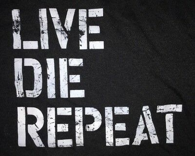 Edge of Tomorrow Live Die Repeat Movie Promo Tank Top Belly Shirt (L/XL)