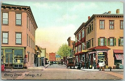 Rahway Nj Cherry Street Antique Postcard