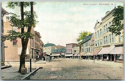 Rahway Nj Main Street Antique Postcard