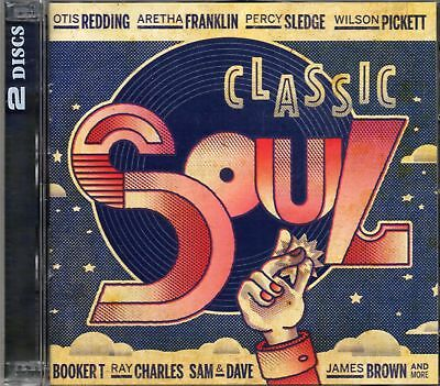 Classic Soul (2 x CD) Aretha Franklin/Drifters/Bobby Womack/Staple Singers (New)