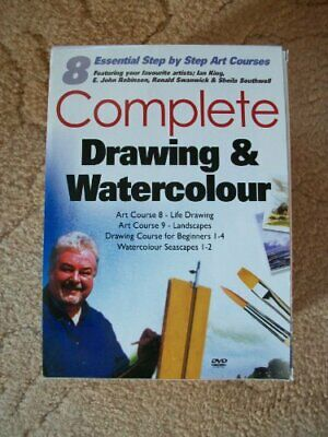 Complete Drawing And Watercolours 8 Pack [DVD] - DVD  UUVG The Cheap Fast Free