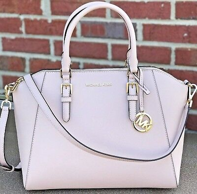 4e387abeabad Nwt Michael Kors Ciara Large Bag Ballet Pink Saffiano Leather Purse Satchel
