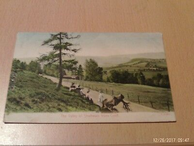 Crieff Strathearn Vintage Postcard Colour The valley of Strathearn from Crieff.