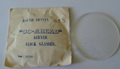 Vintage Replacement Clock Glass - Perspex (NOS),,