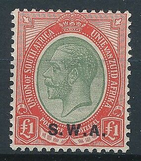 [30170] South West Africa 1927 Good stamp Very Fine MH Value $230