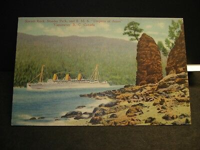 Steamship RMS EMPRESS of JAPAN Naval Cover unused postcard VANCOUVER, BC, CANADA
