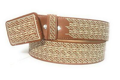 Horse Western Belt//Cinto Charro Mexican Leather Machine Embroidered