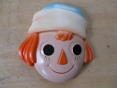 Vintage Plaster or Chalkware Raggedy Andy Head Wall Art