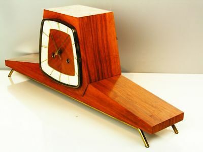 Beautiful Later Art Deco Design Chiming Mantel Clock From Mauthe