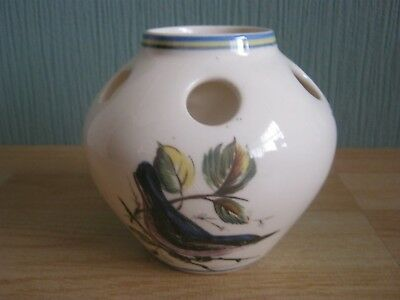 Brixham Pottery Posy Vase with Birds Pictured
