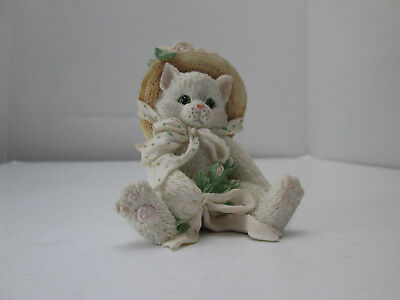 1992 Enesco Calico Kittens Figurine Our Friendship Blossomed From The Heart 2160
