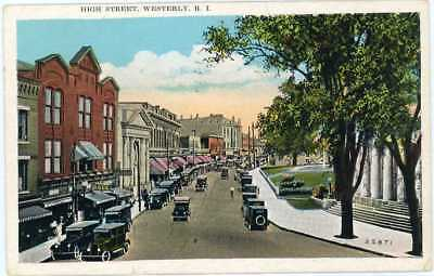 1939 Westerly Ri High Street Washington County Postcard