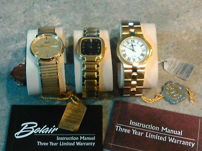 Mens Belair Watches.With Tags.Quartz.Water Resistant.Sport.Dress.Casual..Womens