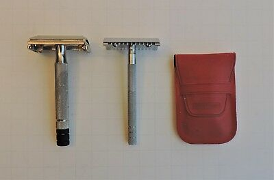Vintage Gillette Safety Razor And German Travel Razor