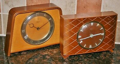 2 x Vintage SMITHS SECTRIC Electric Mantle Clocks - Untested - For Restoration