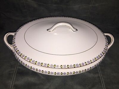 Noritake Nippon Covered Vegetable Oval Casserole Dish Bowl Antique 1912