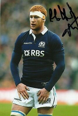 Rob Harley - Scotland Rugby - Signed 6X4 Photo