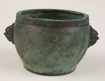 Ancient Chinese Bronze Xiangding Pot Old Collection Buddhist Articles Antique
