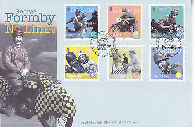 George Formby No Limit  Isle Of Man Fdc