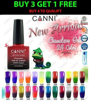 CANNI Chameleon UV/LED Gel Polish Temperature Thermal Colour Change Nail Varnish