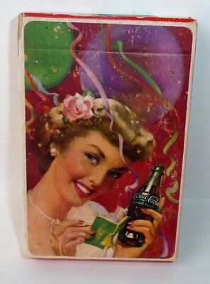 Rare ! Sealed ~1951 Drink Coca Cola, Girl At A Party Playing Cards. Never opened