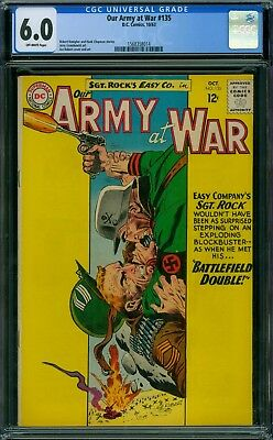 Our Army At War 135 CGC 6.0 - OW Pages