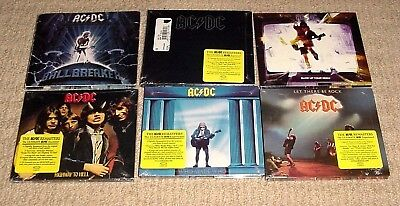 6 New Ac/dc Back In Black Highway To Hell Let There Be Rock Cd Lot + Free Ship