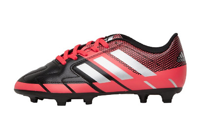 timeless design d4f0b 996be Adidas Junior Neoride III FG Football Boots BlackMatte SilverShock Red UK  5