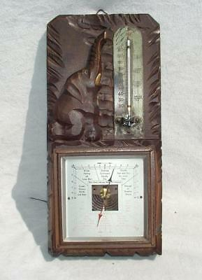 "VINTAGE BLACKFOREST WEATHER STATION BAROMETER & THERMOMETER 10.5"" x 5"""