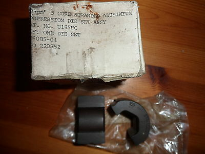 Hydraulic Crimper die Cembre BCC Burndy U185PC compression die set