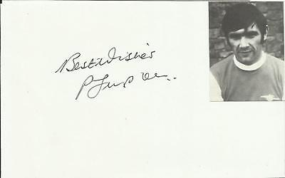 PETER SIMPSON (Arsenal), white card with photograph, ORIGINALLY SIGNED!