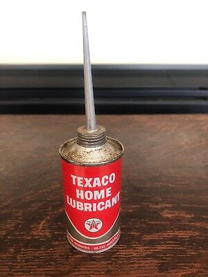 Vintage Texaco Home Lubricant oil can 3 oz handy oiler metal oiler can