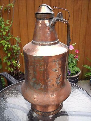 "Large Copper & Brass Islamic Turkish/Persian Water Carrier Pot  49cm (19.5"")"