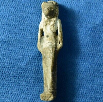 Egypt Cat - Bastet / Baset faience Amulet 1st. millenium BC Egyptian Archaeology