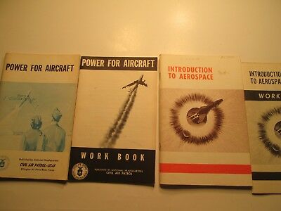 lot of 4 Vintage Power for Aircraft Civil Air Patrol USAF & Aerospace booklets