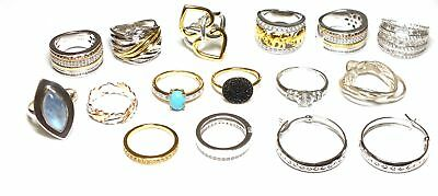 14x 925/ GOLD PLATED Assorted Design Rings /Hoop Earrings, L - O.5, 77.12g - C68